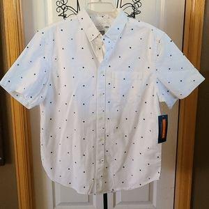 NWT- MEN'S Shirt, slim fit, large